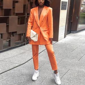 여성 코트 더블 외투 슬림 얇은 2020 패션 겨울 Outerwea 브레스트