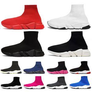 Fashion Designer Shoes calzino per gli uomini delle donne di colore bianco pieno di nuova marca calzini scarpe da tennis Blu Rosa Rosso Velocità Trainer Casual Shoes Platform Boots