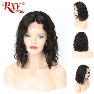 short human hair wigs natural wave 13x6 lace frontal human hair wigs for black women brazilian curly hair lace wigs