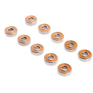 10 조각 ABEC-9 608RS 롤러 스케이트 휠 베어링 씰 볼 베어링