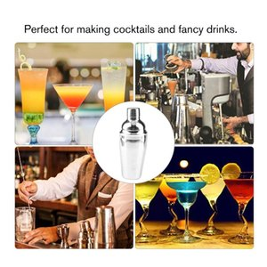 23pcs Stainless Steel Cocktail Shaker Set Barware Kit with Square Wooden Rack for Bartender Drink Party Bar Tools