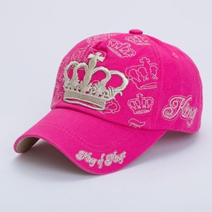 Spring and summer Korean fashion Crown embroidered baseball cap outdoor sports Cap parent-child
