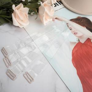 Elastico silicone trasparente di Sheroine 3pcs reggiseno cinghie Cintura donna reggiseno cinghie regolabili Baldric Intimates Accessori