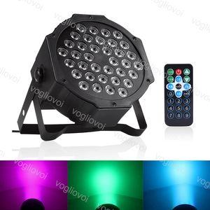 Par Luce 20W 36leds RGB spot del fascio 7CH DMX512 con controllo vocale attivato per il disco del DJ illuminazione della fase del partito di Natale Effetto ABS DHL