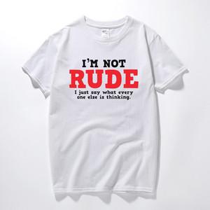 Verão superior camiseta de algodão rude Pensamento sarcástico T-shirt legal Adulto novidade presente Idea Humor engraçado tshirts MX200509 camiseta manga curta