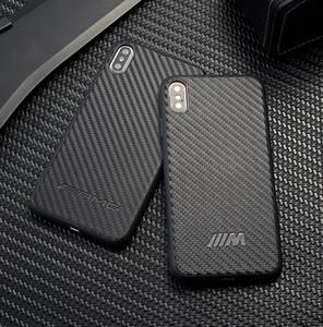 TPU + pu fibra de carbono amg phone case bm m para iphone xs max x 6 s 8 plus samsung note9 s8 s9 s10 mais s10e