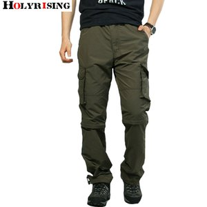 Holyrising Erkekler Pantolon Yaz Ayrılabilir Pantolon Cepler Rahat Pantolon Gevşek Pantalon Hombre Fermuar Streetwear Szie M-3XL 18745-5