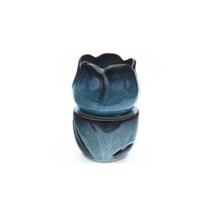 الخزامى شكل النفط أدفأ الأزرق رد الفعل تزجيج السيراميك من الضروري النفط الشعلة الشمع يذوب شمعة الروائح هدية