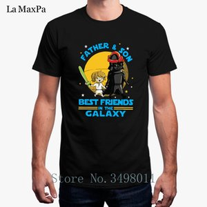 Wholesale Father And Son Best Friend In The Galaxy T-Shirt Costume Men T Shirt 100% Cotton Summer Mens Tee Shirt