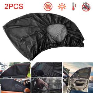 Car Sunshade 2PCS Auto Sun Shade Front Side Window Visor Mesh Cover Shield UV Protection