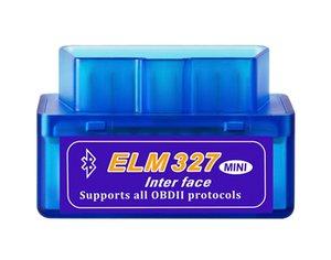 Super Mini ELM327 Bluetooth V2.1 OBD2 Car Diagnostic Tool ELM 327 Bluetooth 4.0 For Android Symbian OBDII Protocol
