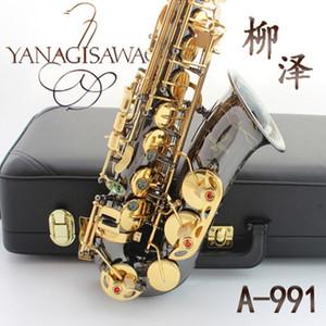 Professionale Giappone Yanagisawa A-991 Alto Sax Placcato Oro Chiave di Sassofono Alto Eb Sax Ottone Strumenti Musicali Saxofone Alto