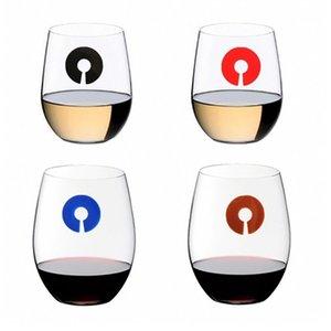 6pcs / set charme Verre à vin C Forme silicone Verre à vin marqueur boire un verre charme Bar Accessoires Outils Autres Bar Produits