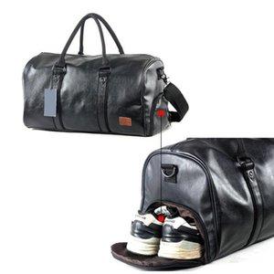 Спорт на открытом воздухе для дизайнеров PU Gym Fitness Bag Тренировочные сумки на ремне Сумка для хранения обуви Кожаная дорожная сумка для багажа Многофункциональная сумка