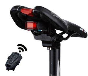 Bisiklet Akıllı Hırsız Işık Alarm Bell Tail Işık USB Şarj edilebilir LED Kablosuz Akıllı Lambası Ücretsiz Kargo