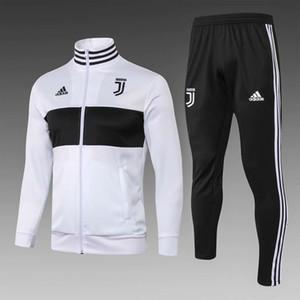 Set da 3 pezzi spedizione gratuita DHL 1819 abbigliamento sportivo di alta qualità 19 nuovo bianco e nero cuciture giacca lunga da uomo giacca sportiva da calcio