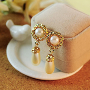 Pearl Earrings For Women Luxury Brincos Jewelry Fashion Statement Earrings Double Pearls Stud Earring