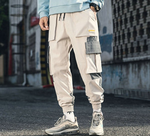 Marken-Designer-Baumwolle Street Hip Hop Cargo Pants Herbst Mens Baggy Taschen Jogger Hosen Herren japanische Art-Schwarz-Harem-Hosen