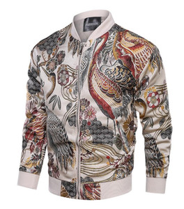 Erkek Tasarımcı ceketler Zongke Japon Nakış Erkekler Ceket Coat Man Hip Hop Streetwear Erkekler Ceket Coat Bombacı Giyim 2019 Sping Yeni