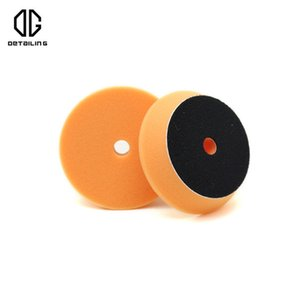 تفصيل 2PCS 80MM البرتقال رغوة تلميع تلميع الوسادة ل3INCH DA الملمع استخدام