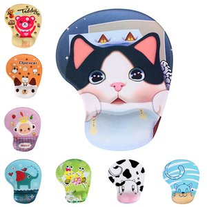 Mice Keyboards s Cute cartoon Non-slip Mouse Pad Comfort Wrist Rest Support Mice Pad High Quality Silicone Wristband Mouse Pad