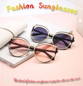 New European and American cat ear double ring ring fashion trend sunglasses ladies UV protection cross-border sunglasses 8176