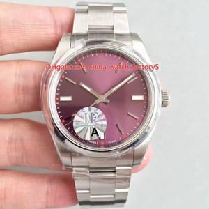 3 COLOR LA MEJOR calidad 904 Acero JF Maker PERPETUAL 39mm 114300 Vidrio de zafiro Swiss Cal.3132 Movimiento Relojes de reloj de hombre automático para hombre