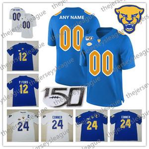 Pittsburgh Panthers Pitt 2019 Custom Any Name Number 150-й военно-морской флот Royal Gold White # 2 Ffrench Donald 24 Conner P.Ford NCAA Футбол Джерси
