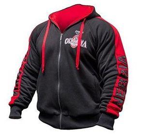 Neue Olympiade Pullover Olympia Fitness Jacken Herren Sportswear Cotton Brief Printed Bodybuilding-Wettbewerb Sweat Hooded Zipper