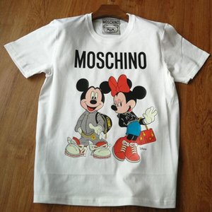 Yaz yüksek kaliteli kısa kollu pamuk karikatür t shirt çocuk giysi tasarımcısı erkek kız gömlek üstleri tee ebeveyn-çocuk giyim ço ...