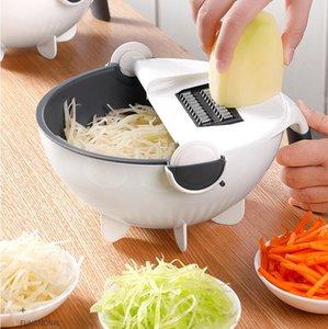 Vegetable Chopper, Veggie Slicer, Fabricante de ensaladas, Cortador de patatas, Julienne Slicer, Potato Chip Maker Julienne Grater - Mandoline Food Slicer