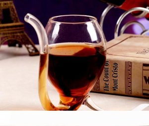 Wine Cup Wine Glasses Hot 300ml White With Tube Straw Gift Unique Creative Drinkware Kitchen, Dining & Bar