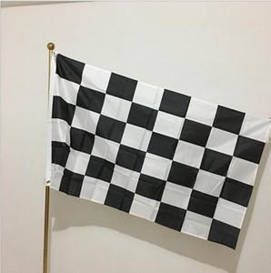 3 * 5FT Checkered bandeira de competência - 90cm * 150cm Black White Plaid Flag Nascar Motorsport Corrida Banner Home Decoração Artigos para Festas 300pcs