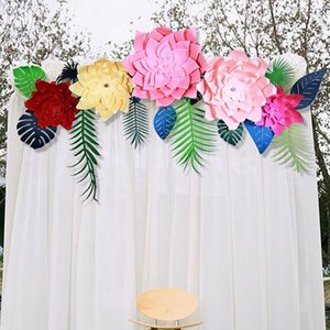 Wholesale Celebration Paper Pinwheel Fan Backdrop Party Wall Decoration Paper Flower Props for Wedding Decor Multi Colors and Size