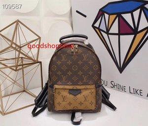 Hight Quality L Women's Palm Springs Mini Backpack Genuine Leather Children Women Backpacks V Flower Print School bag M41560 M41561 M41562