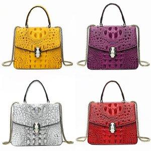 Classic Print Flower Mini Designer Luxury Crocodile Shoulder Bag Totes Bag Genuine Leather Barrel Cosmetic Bags Women Designer Crossbody #844