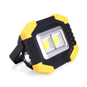 Home Furnishing Outdoors Multi-function Portable Work lights COB 500 Lumens Cast light Polycrystalline Solar energy Both charging and Batter