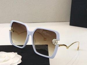 5906 Womens Designer Sunglasses Big square frame metal Glasses charming elegant style anti-UV400 lens leisure eyewear with ca