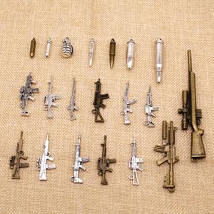 20 Piezas encanto para la joyería de bricolaje arma de francotirador bala de la ametralladora granada HJ122