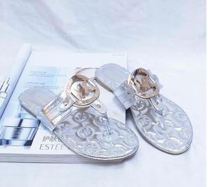 Couro Thong Sandal Mulheres Luxo Virar Chinelos Moda Fina pretos da aleta marca de calçados Ladie Bege Sapatos Sandálias Flippers