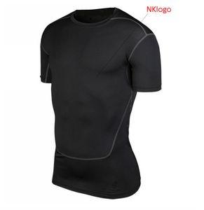 YENI 2019 Yaz sıska aktif spor tayt koşu koşu SPOR eğitim futbol basketbol t gömlek ter hızlı kuru üstleri t gömlek erkekler