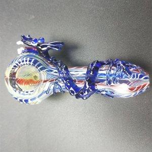 Tubos recién liberados Mushu Pipas de vidrio Animados Dragón Modelado de vidrio fumar en pipa de bajo precio al por mayor