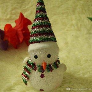 7 colores que cambian EVA Crystal Ball Mushroom Bear muñeco de nieve LED lámpara de luz de noche colorida luz de escritorio para dormitorio decoración de Navidad