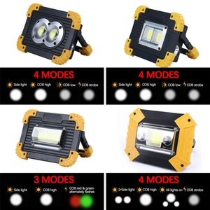 New Portable COB Work Light Rechargeabl Ultra Brigh Spotlight Camping Fishing Lamp High Power Outdoor Camping Camping Charging Flood Light