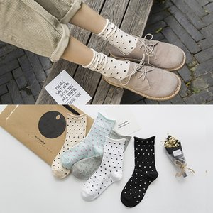 fashion Women's Underwear Underwear women happy harajuku cute ankle dot cartoon chaussette art socks bull terrier cow print bt21 sheer socks