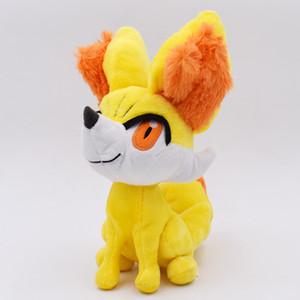 24CM XY Fennekin Plush Toys Doll Cute Hot Fluffy Fox Hot Game Peluche Toy Soft Stuffed Toys Presents For Kids Free Shipping
