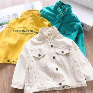 3Color letter Kids jacket fashion Kids Coat new 2020 boys coat girls coats girls jacket boys outerwear boys jacket kids clothes B750