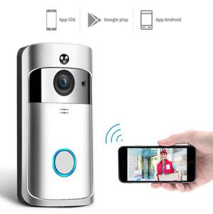 HD 720P WiFi Video Doorbell Camera IR Night Vision Two-Way Audio Battery Operation Door Phone Intercom