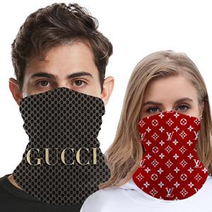 Erkekler ve Kadınlar Buz İpek Eşarp DesignerHeadband Spor Turban Yıkanabilir Koruyucu Maske Lüks Doğa Sporları Maskeleri