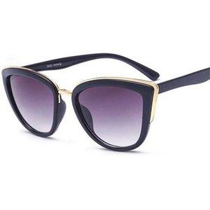 2020 Fashion Cateye occhiali da sole delle donne del metallo dell'annata Eyewear per le donne Specchio Retro Shopping Feminino UV400